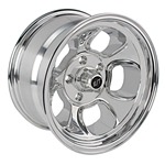Team III Wheels ET Five Window Wheel-Pol-15x8-5 on 4.75-4 In. Backspce