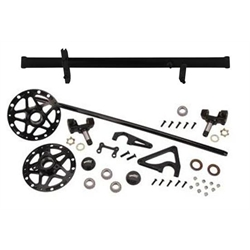 Speedway 2-1/2 Inch Sprint Front Axle Kit, 50 Inch Long, Black