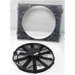 Garage Sale - Single 14 Inch Fan Shroud Combo, 15 W x 18 H
