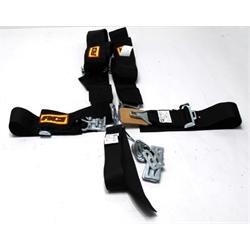 Garage Sale - RCI 5 Point Harness Seat Belt Combo, Latch & Link, Pull Down, Black