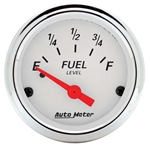 Auto Meter 1315 Arctic White Air-Core Fuel Level Gauge
