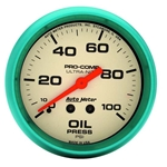 Auto Meter 4521 Ultra-Nite Mechanical Oil Pressure Gauge, 2-5/8 Inch