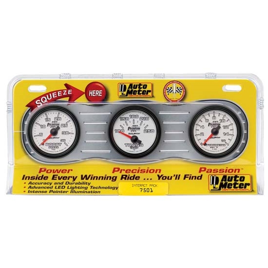 Auto Meter 7501 Phantom II Interact Pack Diesel Gauge Set, 2-1/16 Inch