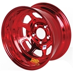 Aero 52-985010RED 52 Series 15x8 Inch Wheel, 5 on 5 BP, 1 Inch BS IMCA