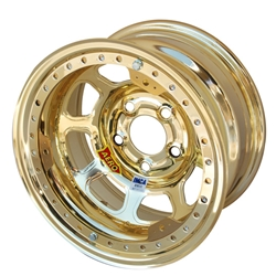Aero 53-984740GOL 53 Series 15x8 Wheel, BL, 5 on 4-3/4, 4 Inch BS IMCA