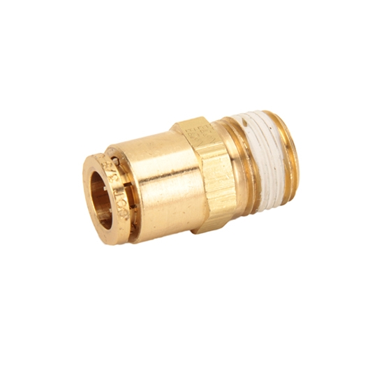 Air Suspension Push-In Tubing Straight Connector Fitting, 3/8 NPT Male