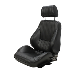 Scat Procar Rally Series 1000 Bucket Seat, Drivers Side Black Vintage