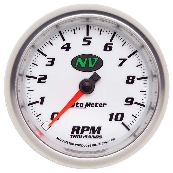Auto Meter 7497 NV Air-Core In-Dash Tachometer, 3-3/8 Inch