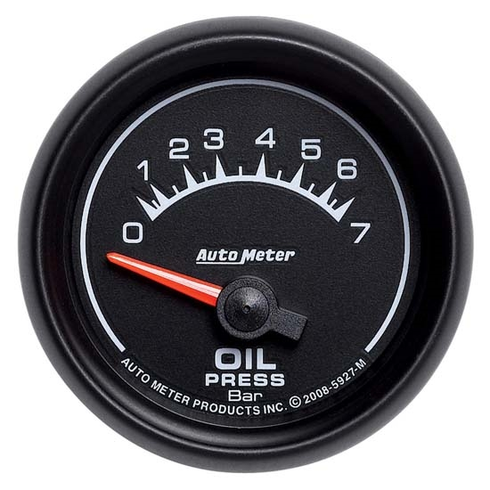 Auto Meter 5927-M ES Air-Core Oil Pressure Gauge, 2-1/16 Inch
