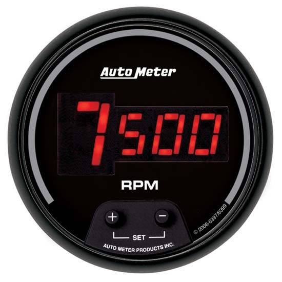 Auto Meter 6397 Sport-Comp Digital Digital In-Dash Tach, 10k RPM 3-3/8