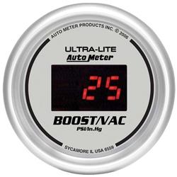 Auto Meter 6559 Ultra-Lite Digital Digital Boost/Vacuum Gauge, 2-1/16