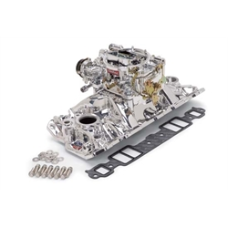 Edelbrock 20214 EPS Single-Quad Intake Manifold/Carburetor Kit, Chevy