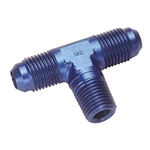 Aluminum Flare to Pipe Tee Adapter Fitting, -10 AN to 1/2 Inch NPT