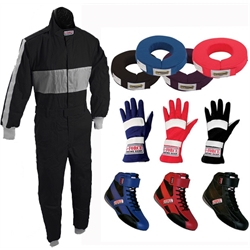 Speedway Pyrovatex  Single Layer One Piece Racing Suit Combo