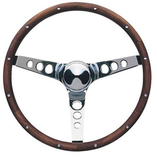 Garage Sale - 13-1/2 Inch Classic Wood 3-Spoke Steering Wheel