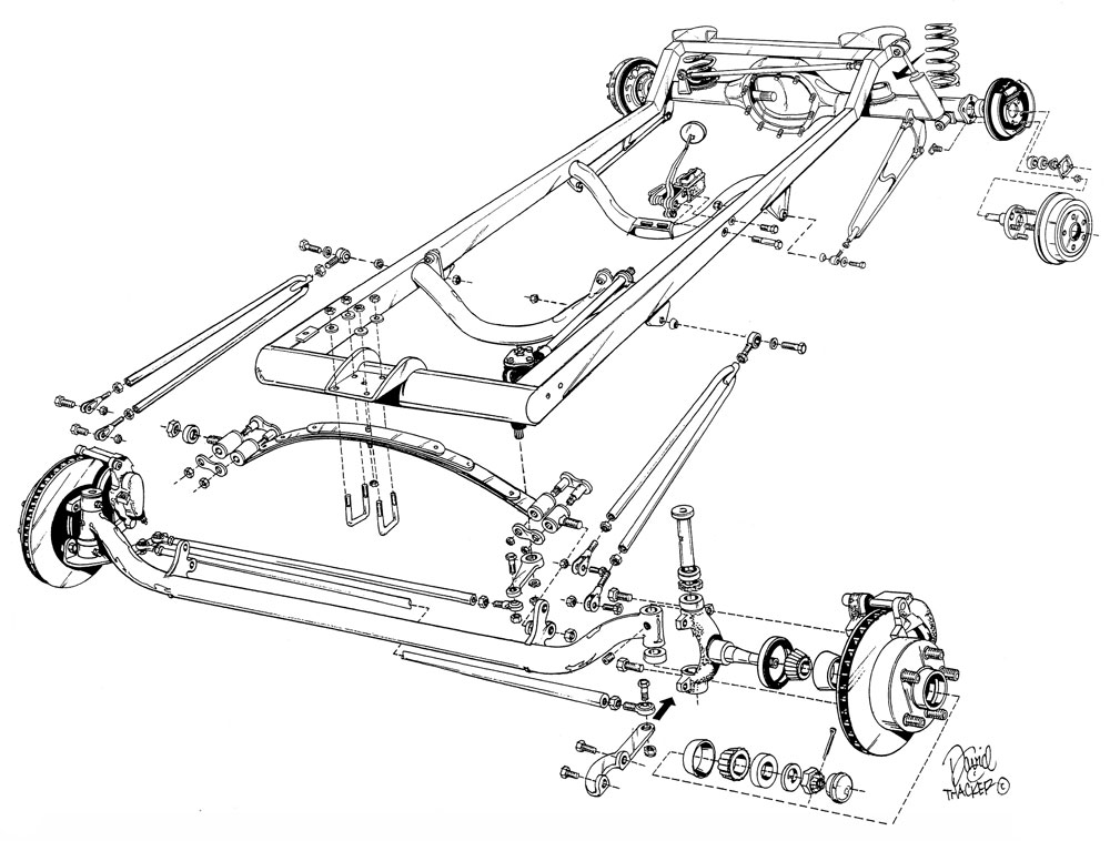 Basic 1923 T Frame Kit W Deluxe Body And Bed Flat Floor 43661 on 1927 model t coupe parts