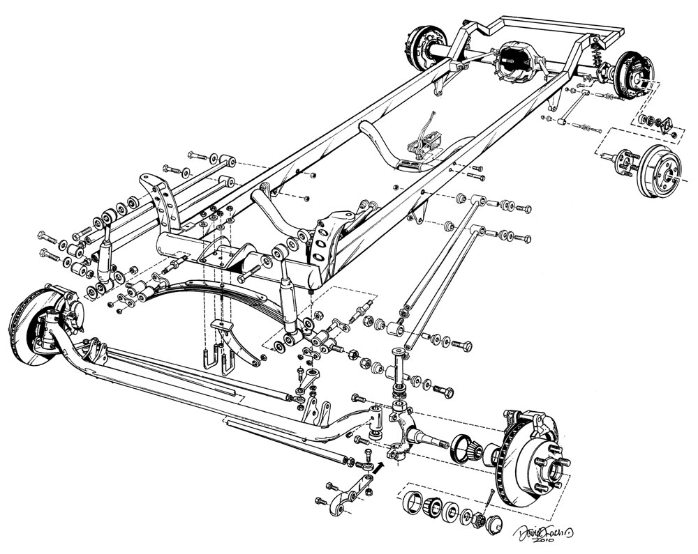 1923 t bucket front suspension diagram for of