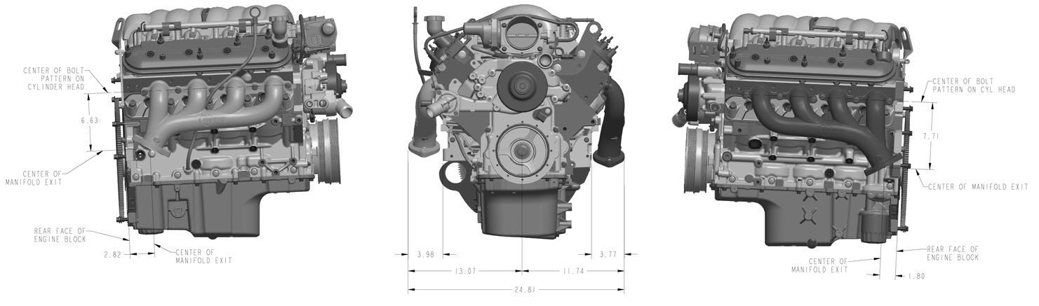 Hooker Headers 8501HKR LS Cast Iron Exhaust Manifolds