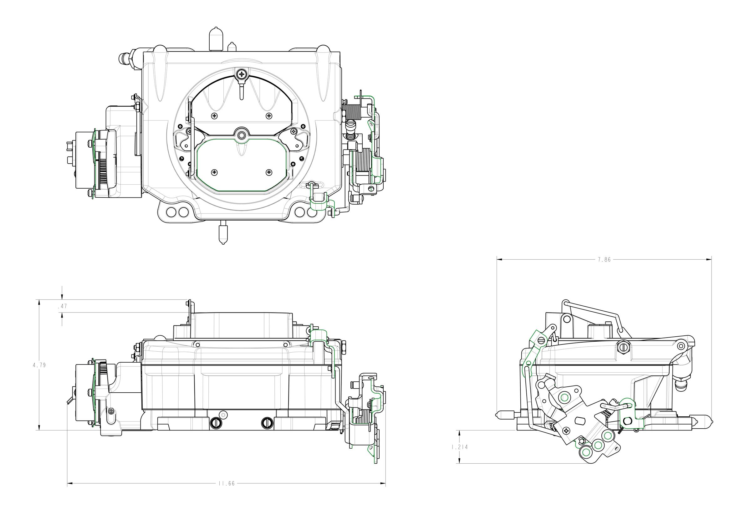 ford 2 barrel carburetor spacer