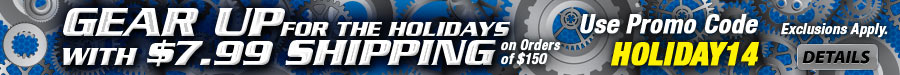 $7.99 Holiday Shipping with promo code HOLIDAY14.