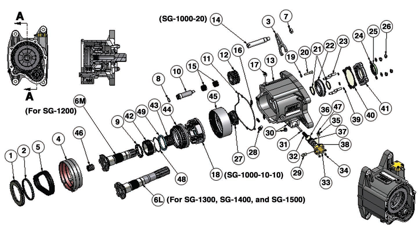Transmission Parts Exploded View