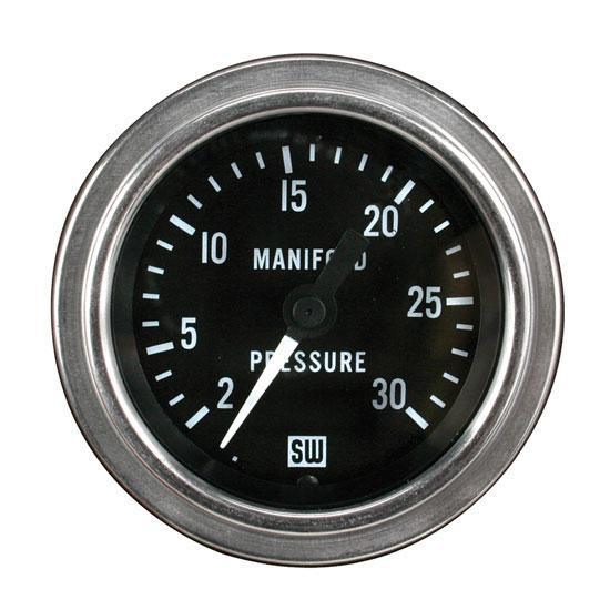Stewart Warner Mech Manifold Pressure Gauge 2 30 PSI