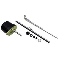Speedway deluxe stainless 12 volt electric windshield for Windshield wiper motor kit