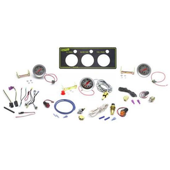 New Speedway Auto Meter Sport Comp 3 Gauge Panel Kit, Oil & Fuel