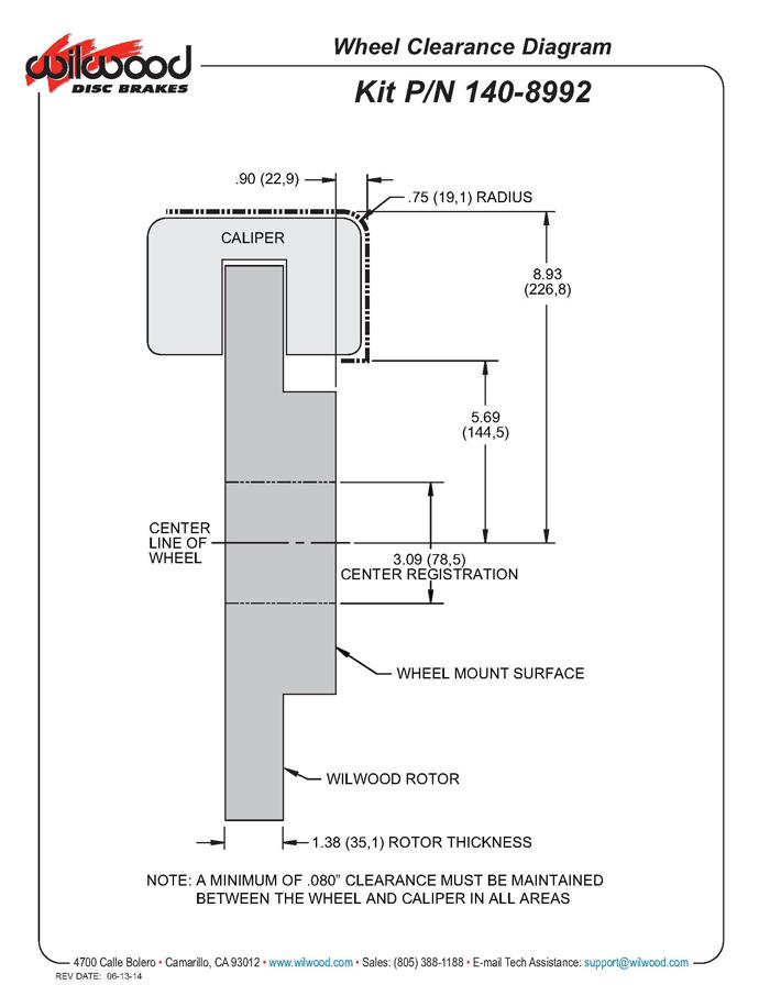 Wilwood 140-8992-DR TC6R 16 Front Brake Kit, 1999-Up GM ...