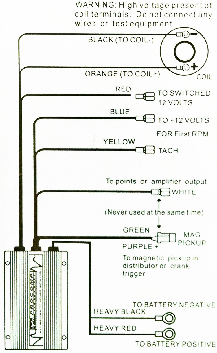 pro comp ignition wiring diagram pro comp tach wiring diagram